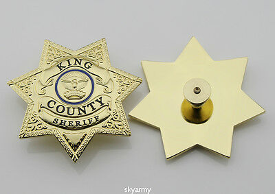 The Walking Dead King County Sheriff Badge Prop Grimes Cap Badge-Replica
