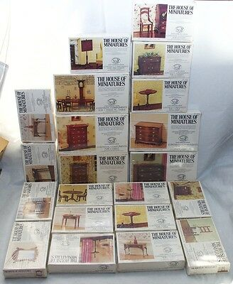 House of Miniatures Collectors Series - Lot of 21 Dollhouse Furniture Kits - NEW