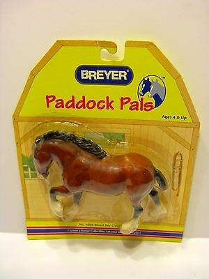 Breyer 1999 Paddock Pals, Blood Bay Clydesdale Horse. #1604  New Sealed Package