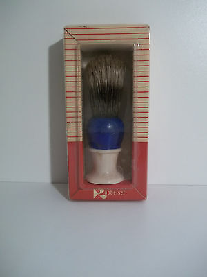 Vintage Natural Bristle RUBBERSET Shaving Brush with Box Clean Never Used  B-100