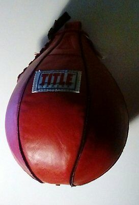 TITLE speed bag 6 x 9