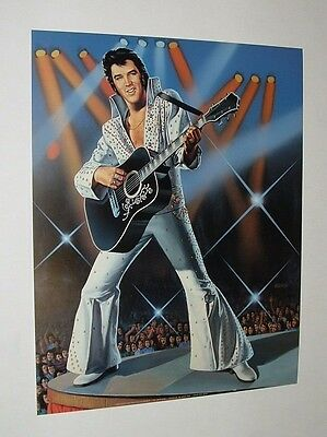 "Elvis Presley ""the King"" Litho Print Poster - 16X20 - 1988"
