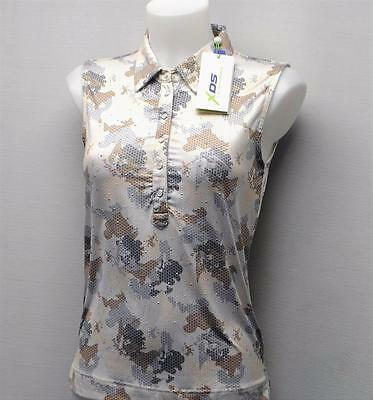 New Ladies Daily Sports lightweight polyester sleeveless blouse golf top Small