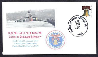 Submarine USS PHILADELPHIA SSN-690 Change of Command Naval Cover 8 Made