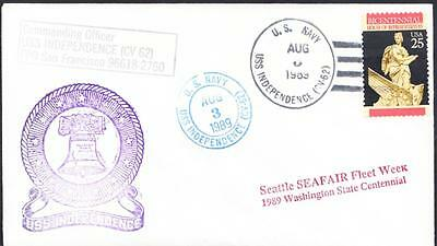 Aircraft Carrier USS INDEPENDENCE CV-62 Seafair Seattle Washington Naval Cover