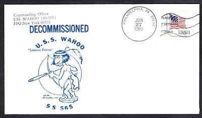 Submarine USS WAHOO SS-565 DECOMMISSIONING Naval Cover