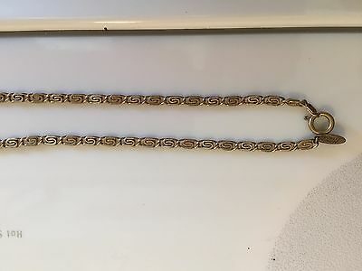 """Miriam Haskell Vintage Swirl Necklace Signed Antique 36"""""""