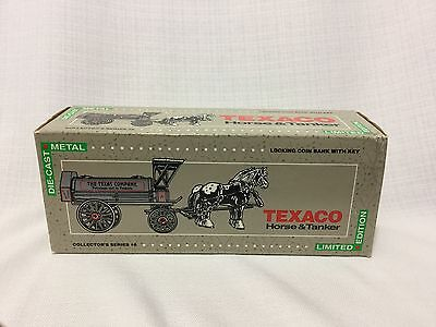 Texaco Horse And Tanker Antique Coin Bank
