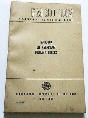 1960 Army HANDBOOK ON AGGRESSOR MILITARY FORCES