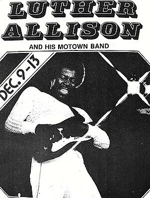 LUTHER ALLISON GREAT BLUESMAN @ Antone's Home of the Blues  ORIGINAL1980  SCARCE