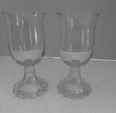 Candlewick TWO WATER GOBLETS ** Imperial Glass Co.