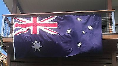 Appliqued Fully Sewn Australian Flag, Made in Aust,Supporting Australian Jobs