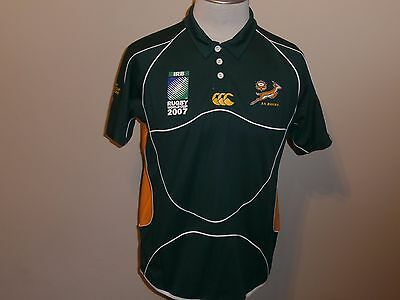South Africa Springboks Rugby World Cup 2007 Green Jersey Canterbury Men L
