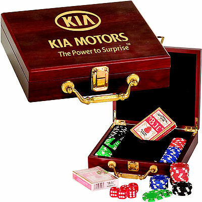 Personalized Poker Chip Box Set Custom Engraved Valentine's Day Gifts for Him