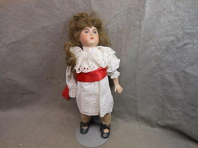 """Vintage  17 Inch Bisque Doll Marked """"hl-Hl"""" With Stand"""