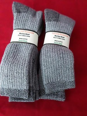 4 Pair Pocono 71% Merino Wool Over the Calf Hiker Sock Arch Support Cabela 9-12