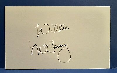 Willie McCovey signed 3x5 index card - HOF 1986