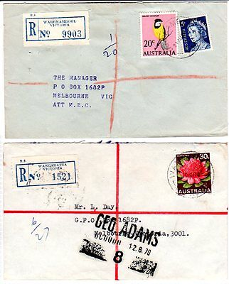 Selection of 5 registered covers to Tattersall's