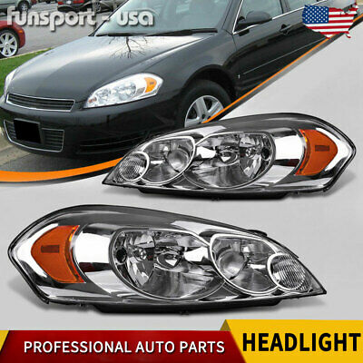 for 06 07 Monte Carlo 2009-2013 Chevy Impala Headlights Replacement Headlamps