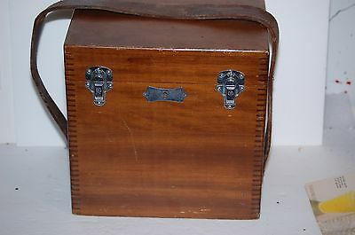 Antique Double Bronchoscope Battery Quack Medicine Machine Jointed Wood Box