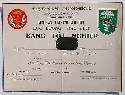 Original LLBD / Special Forces Airborne Document from Dong Ba Thin B-51