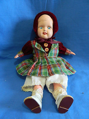 Vintage Australian Casein and Plastic and Cloth Doll