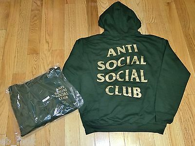 a1d347f82a5d AntiSocial Social Club Redeemed Hoody Size S M ASSC Green Gold HOT DEAL