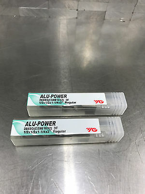 YG1 Alu Power 1/2 Carbide end mill lot of 2 New