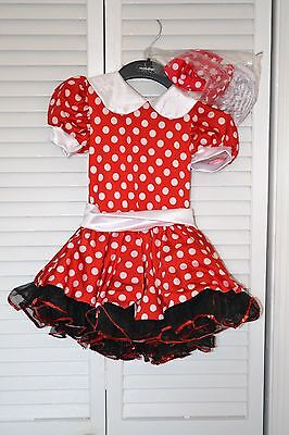 Girls Mini Mouse style/red polka dot ballet dance costume size 4