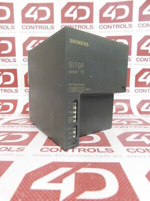 Siemens 6EP1334-2AA00 SITOP Power 10 Power Supply, 120/230V AC In 10A/24V DC ...