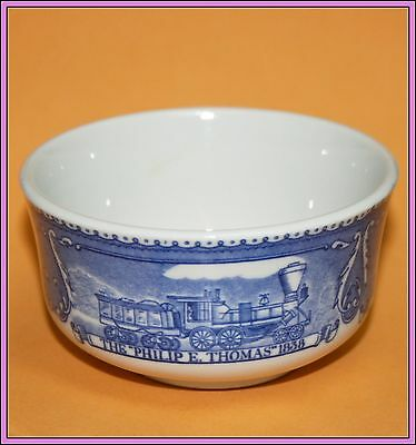 Vintage Antique B&O Railroad Train Shenango China Custard Cup Baltimore & Ohio F