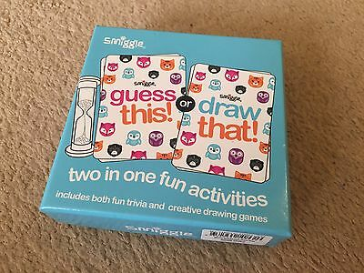 Smiggle Guess this Or Draw that Card Game