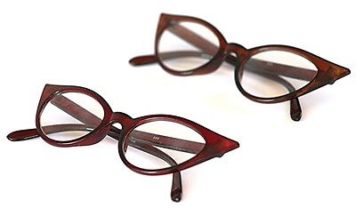 GF59 Retro 1950s 1960s Cats Eye Vintage Fashion Frame, Clear Lens, Eyeglasses