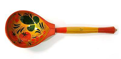 Wooden spoon. Khokhloma. Hand painted #10-2