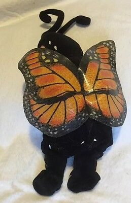 Collectible Anne Geddes Monarch Butterfly Baby With Bright  Blue Eyes-Wide Open