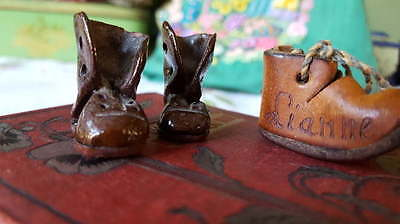Cute Vintage Miniature Boots Ornaments Collectables