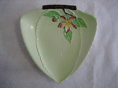 Carlton Ware Green 'Apple Blossom' Triangular Dish