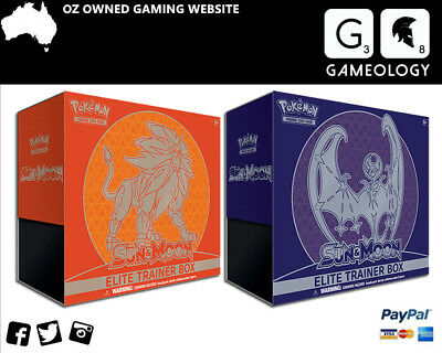 Pokemon TCG Sun & Moon Elite Trainer Box - Lunala & Solgaleo Box - NEW IN STOCK