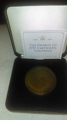 George III Cartwheel TwoPence 1797 with COA