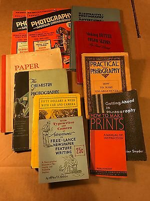 lot of 14 vintage  how to photo books 1930s vintage photography