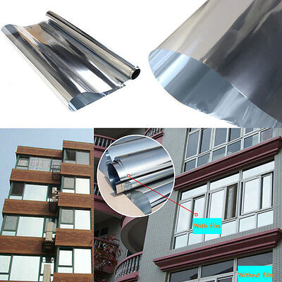 3M Window Film One Way Mirror Silver Insulation Solar Reflective Stickers Tool