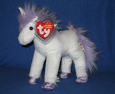 TY FORTRESS the UNICORN BEANIE BABY - MINT with MINT TAGS