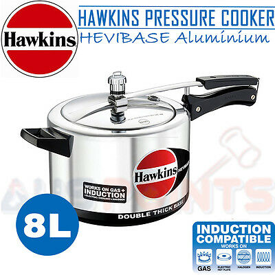 8L Hawkins Hevibase Aluminium Pressure Cooker 8 Litres Cookware Induction