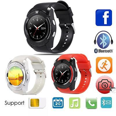 V8 Smart Watch Phone Touch SIM GSM Card Bluetooth Wrist Watch for Cell Phone BA