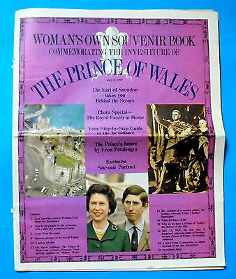 1969 Womans's Own Book Commemorating The Investiture Of The Prince Of Wales
