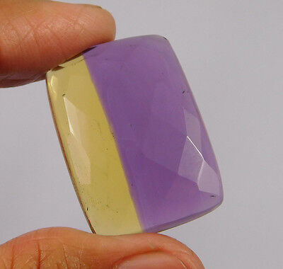 25 Cts. Treated Faceted Ametrine Cut Loose Cabochon Gemstone (NH989)