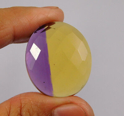 30 Cts. Treated Faceted Ametrine Cut Loose Cabochon Gemstone (NH995)