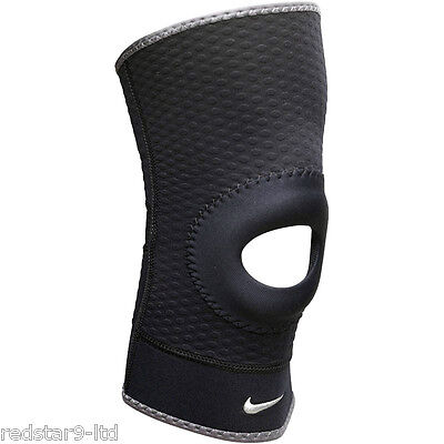 Nike Adults Open Patella Knee Sleeve Compression Support Black L Rrp £15