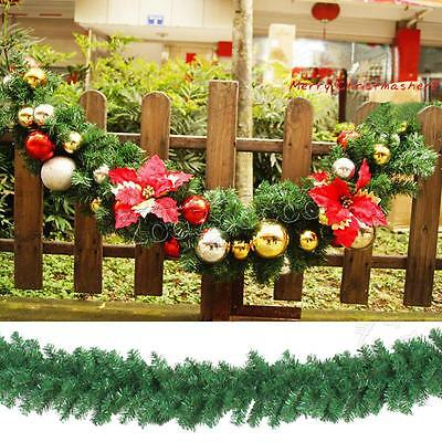 2.7M X 25CM Garland Christmas Decoration Xmas Fireplace Mantel Tree Pine Green