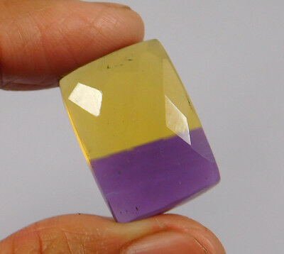 24 Cts. Treated Faceted Ametrine Cut Loose Cabochon Gemstone (NH983)